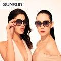 Sunrun Gafas de sol moda mujeres cuadradas Gafas de sol diseñador de la marca de Gafas para mujer Gafas de sol UV400 Gafas de sol de mujer 9706