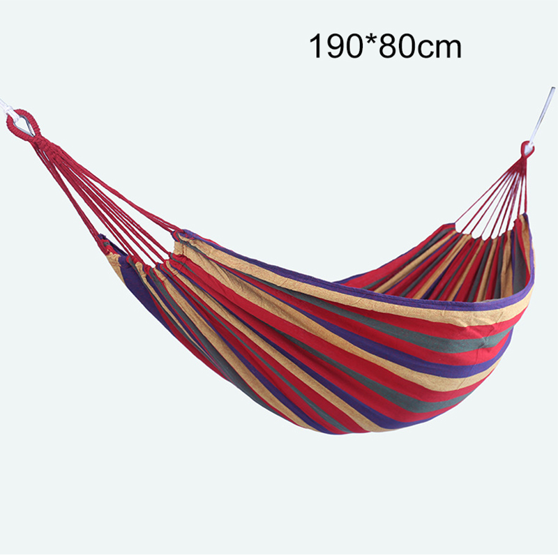 Portable Hammock Hanging-Bed Fabric Outdoor Swing with Mosquito-Net 1-2-Person