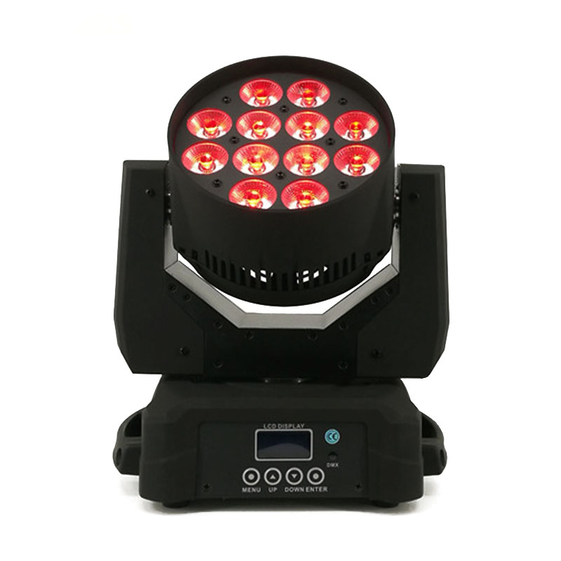 2pcs/lot LED Wash 12x12W RGBW Moving Head Lighting Disco Light Quad LEDs DJ DMX Lamp 13 Channels Stage DJ Equipment SHEHDS