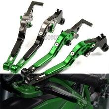 цены CNC Adjustable Motorcycle Brake Clutch Lever For Kawasaki Z 900 650 Z900 Z650 VERSYS 1000 650cc VERSYS1000 VERSYS650cc 2015-2018