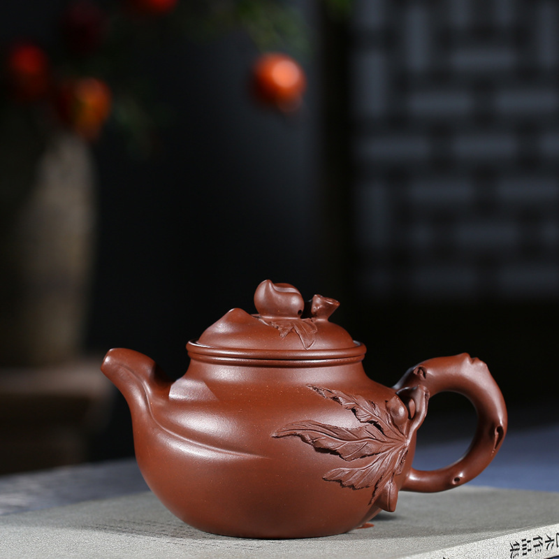 Purple Ink For Imprinting Of Seals Peach-shaped Mantou Kettle Preserve Ones Health Kettle Kungfu Online Teapot Tea Set GiftPurple Ink For Imprinting Of Seals Peach-shaped Mantou Kettle Preserve Ones Health Kettle Kungfu Online Teapot Tea Set Gift