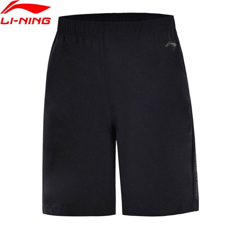 Li-Ning Men Running Shorts 88% Polyester 12% Spandex Breathable AT DRY Regular Fit LiNing Sports Shorts AKSN123 MKD1546 outdoor sports fitness polyester spandex tight shorts for men black xl