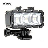 SHOOT Waterproof LED Diving Light For GoPro 5 4 3 3 2 SJCAM SJ4000 SJ5000 Xiaomi