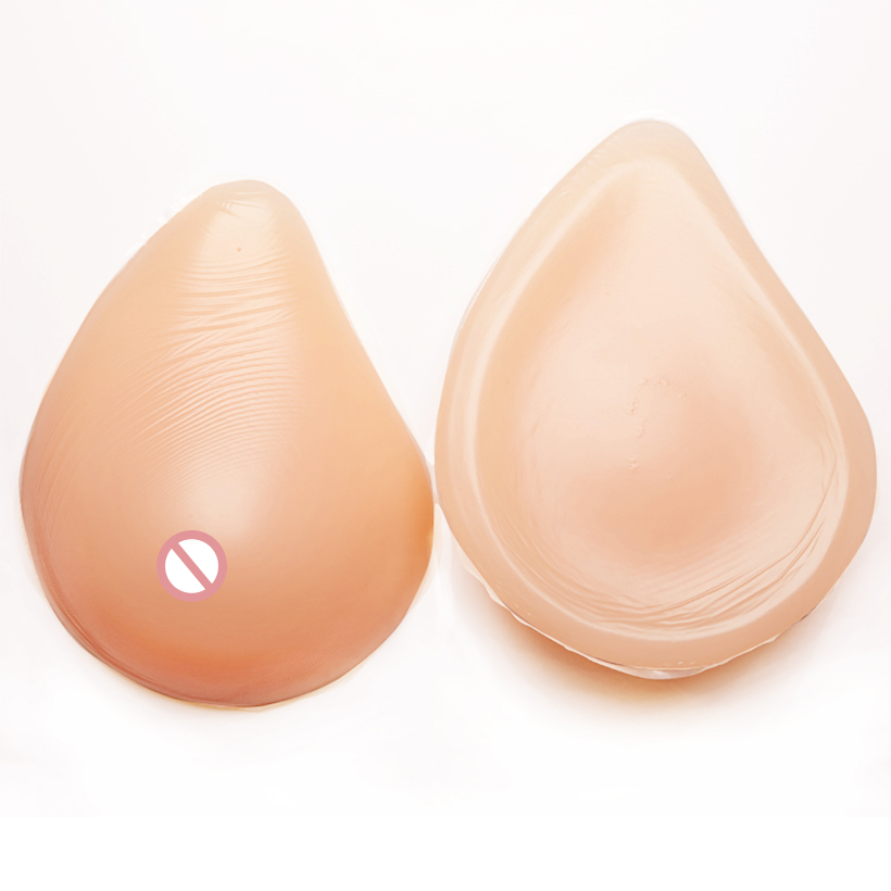 Artificial Silicone Breast Forms Spiral False Breasts For Postoperative Crossdresser Breasts Chest Special Protection
