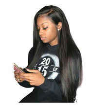 Silky Straight 360 Lace Frontal Wig Pre Plucked With Baby Hair 150% Density Lace Front Human Hair Wigs Honey Queen Product Remy