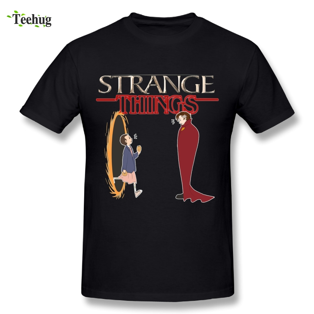 Pure Cotton Mens Stranger Things T-Shirt Novelty Funny Custom Picture T Shirts