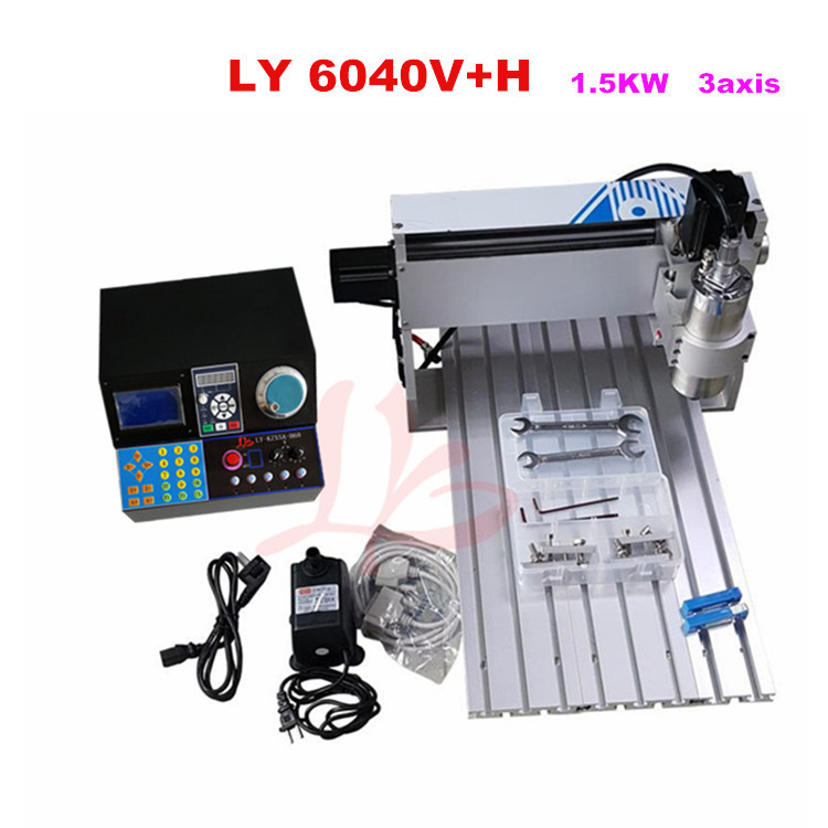 cnc 3040 3020 6040 router cnc wood engraving machine rotary axis for 3d work all knids of model number russian tax free Engraving machine 6040V+H 1.5KW 3axis cnc router for alumnium wood metal cutting work,free tax to EU