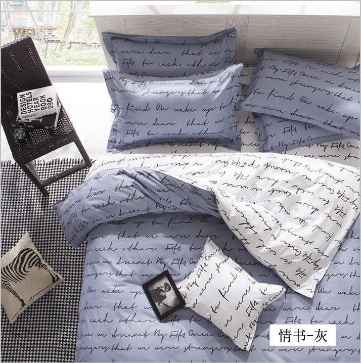 Fashion polyester cotton bedding set king size 4pcs juegos for Sabanas para cama king size precios