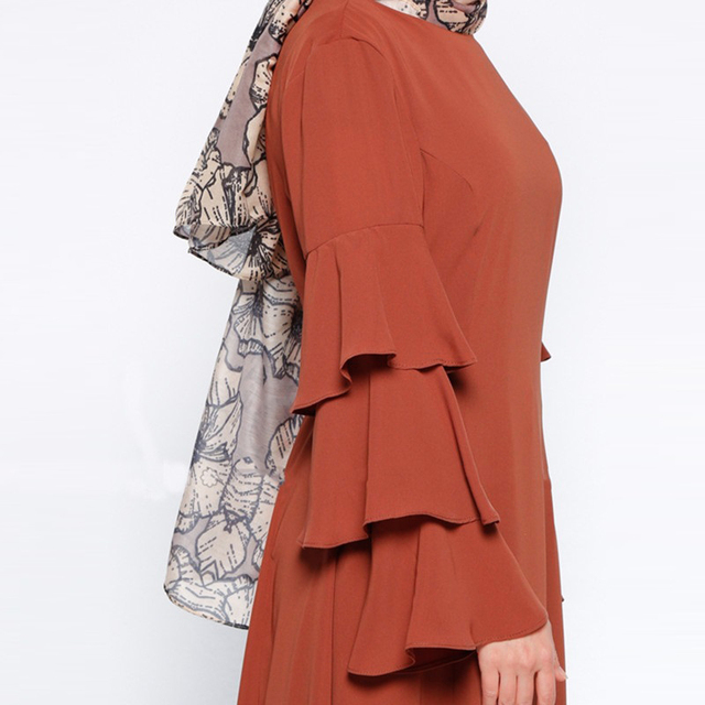 Купить модное мусульманское платье с длинным рукавом женский халат картинки