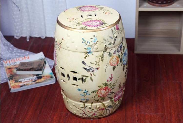 Aliexpress.com  Buy Chinese birds ceramic Stool home decoration drum porcelain garden stool Glazed hand painted round ceramic outdoor stools from Reliable ... & Aliexpress.com : Buy Chinese birds ceramic Stool home decoration ... islam-shia.org