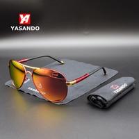 Sunglasses Men 2019 YASANDO Luxury Polarized Lens Classic Pilot Outdoor Driving Eyewear UV400 Male Sun Glass Men Women XY8503