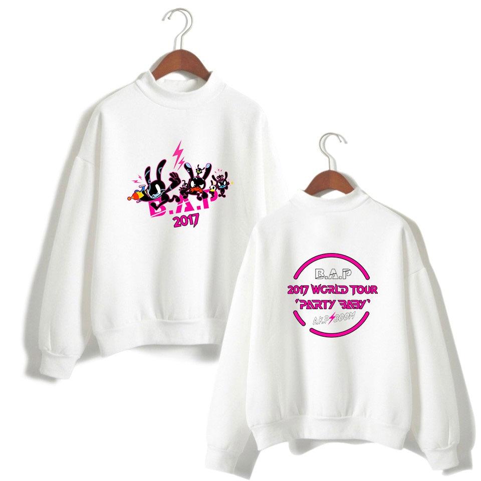 B.A.P Best Absolute Perfect Print K-Pop Hoodie Sweatshirt Women Cool And Fashion Style Capless Sweatshirt Clothes 4XL