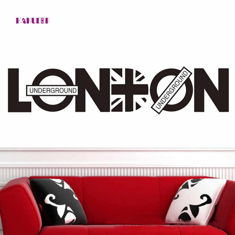 KAKUDER London Britpop Wall Stickers DIY Home 80 x 20cm Britain Style For Wall Decorative Art Decals 1PC