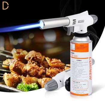 Doatry BBQ Guns Butane Gas Blow Torch Welding Gun Burner Kitchen Torch Flamethrower Soldering Cooking Tools Outdoor Equipment