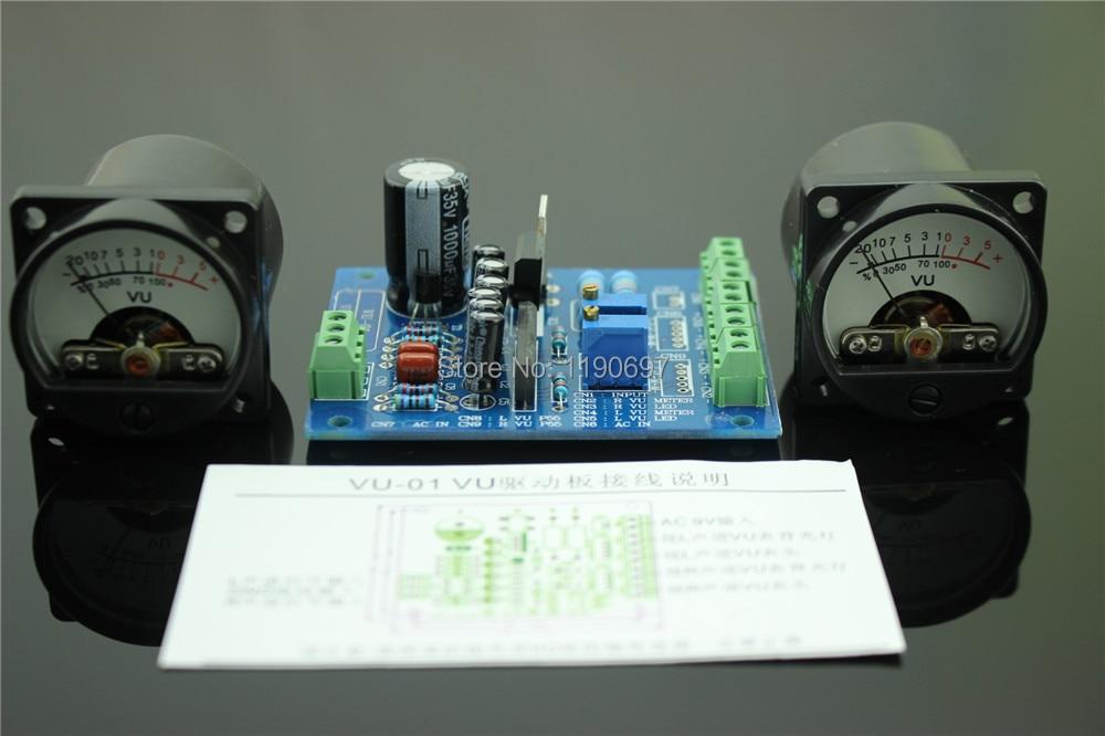 все цены на 1Set 500VU Panel VU Meter Audio Level Meter 6-12V Audio Level With Warm BackLight Free Shipping онлайн