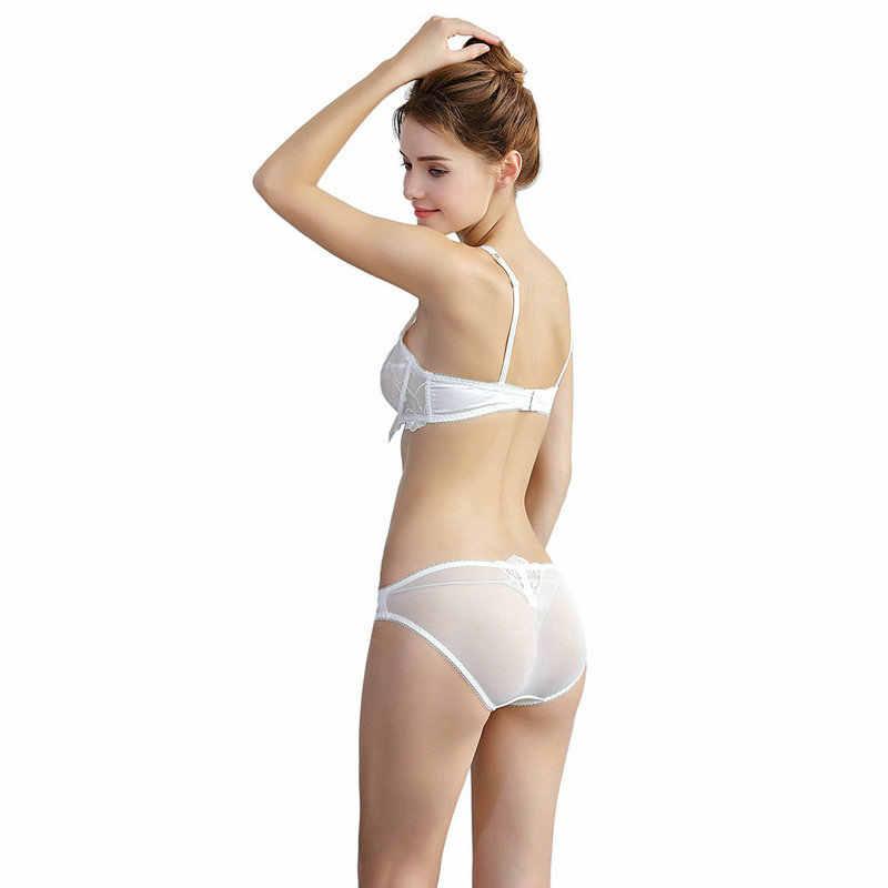 847295dffe ... Woman Lace Lingerie Underwear Set Ladies Sexy Fancy Bra Panty Set Plus  Size Ultra-thin ...