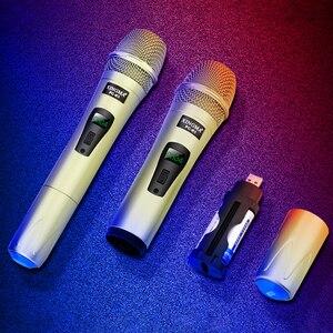 Image 5 - Wireless Mikrofon Professionelle Handheld 2 Kanäle Studio Dual VHF Dynamische Mic Für Karaoke System Computer KTV XINGMA AK 100
