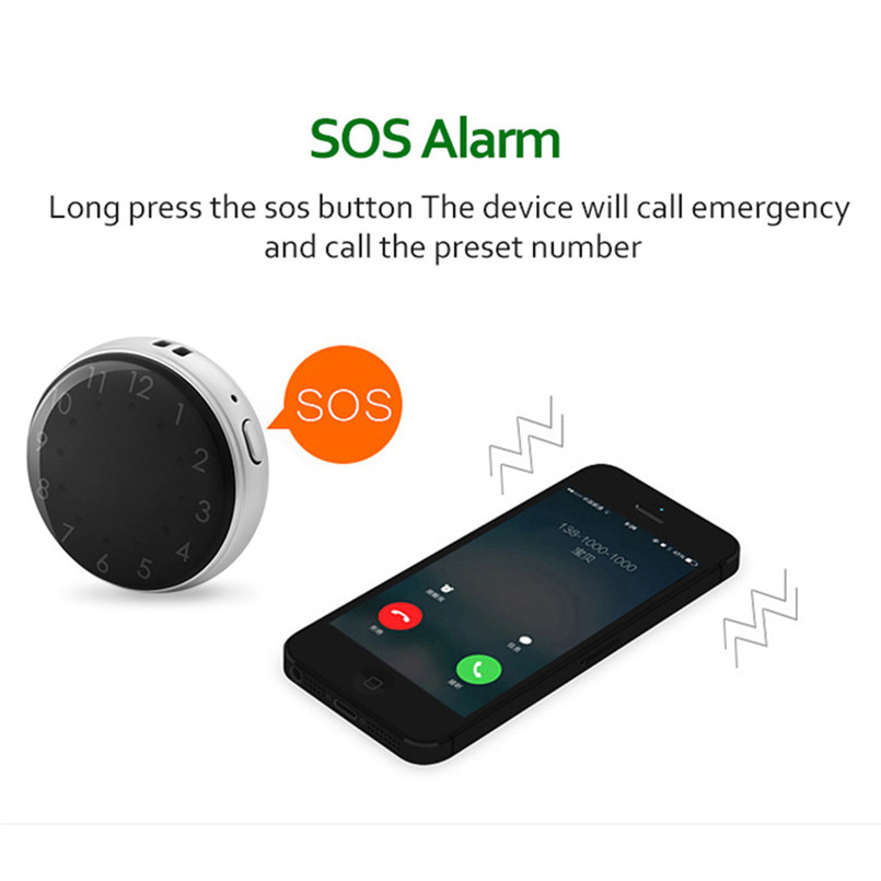 Mini Child GPS Tracker Pocket Watch A12 Adults Older Pocket Locator Clock Tracking Device SOS Alarm Voice Monitor 40MAY1502
