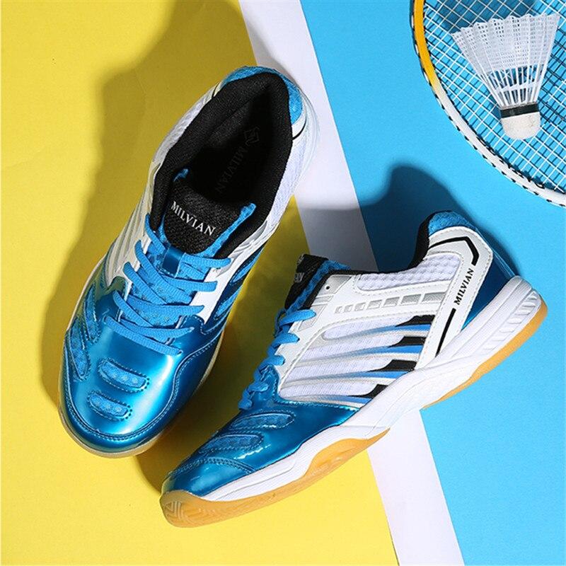 2019 nouveau Style chaussures de Badminton hommes femmes Sport formateurs Anti-glissant respirant chaussures de Sport pour les amoureux de formation baskets de tennis