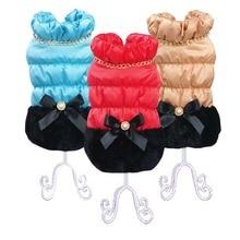 Warm Princess Girl Coat for Dogs Cat Jacket Winter Soft Quality Pet Clothes  XS S M L XL Wholesale Retail