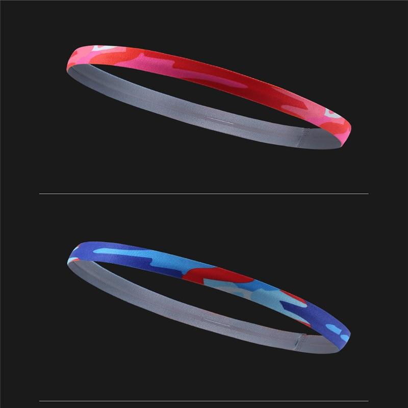 Sport Elastics Sweatband Absorbent Yoga Hairband  Running Outdoor Fitness Cool Headband Anti Sweat Hair Band Print Headband