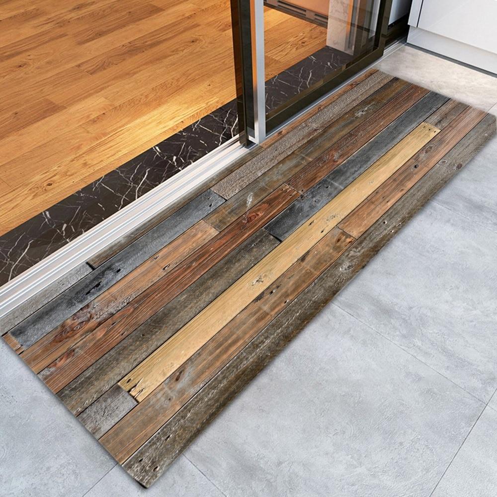 Us 8 69 31 Off Wood Grain Area Rug For Living Room Bedroom Bedside Rugs Hallway Door Mats Non Slip Absorbent Kitchen Runner Bath In Mat
