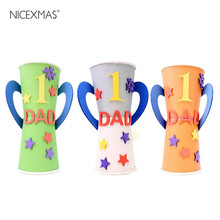 3pcs Trophy Crafts Handmade Handcrafts Funny DIY Material Supplies for Crafts Kindergarten Children Fathers Trophy Making(China)
