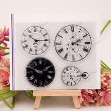 Clocks Transparent Clear Silicone Stamps for DIY Scrapbooking/Card Making/Kids Christmas Fun Decoration Supplies