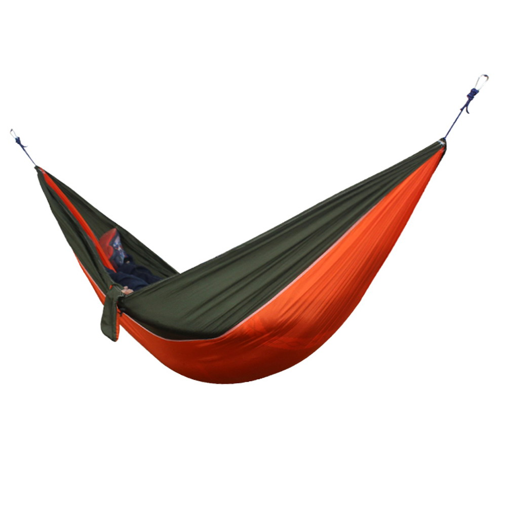 Image 2 - Double People Portable Hammock Camping Survival Garden Hunting Travel Double Person Portable Parachute Hammocks for 1 2 Person-in Hammocks from Furniture