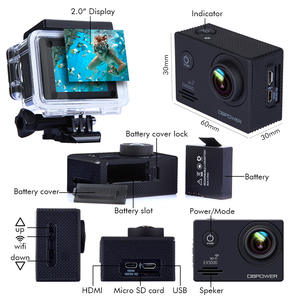 "Image 5 - SJCAM SJ5000 Series Sports Action Camera 4K DV HD 2.0"" SJ5000 WIFI SJ5000X Elite Waterproof camera sport SJ CAM"