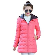 New Fashion 2016 Autumn Winters Cultivate one's morality Wavy Lines Candy color Down Cotton-padded jacket Winter Coat G1184