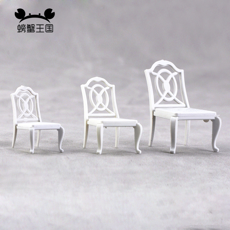 20pcs Dollhouse Miniature Furniture Model Dining Leisure Chair Scenery 1:20 1:25 1:30 Scale Model Building Kit