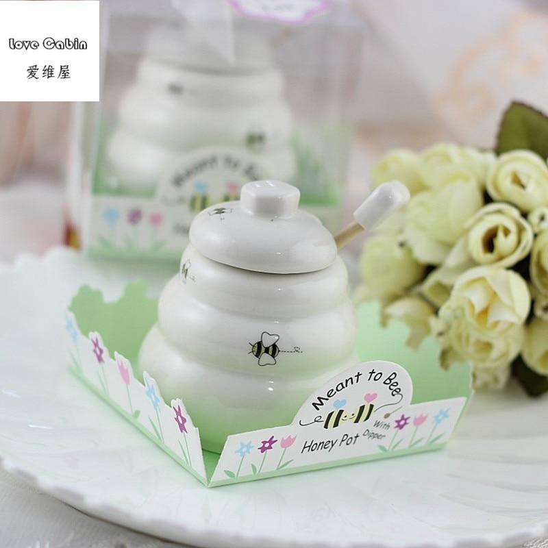 Image 5 - Предназначенный для пчелы керамический горшок для меда 10 шт./лот  свадебный душ для подаркаgift favorgift giftsgift pot