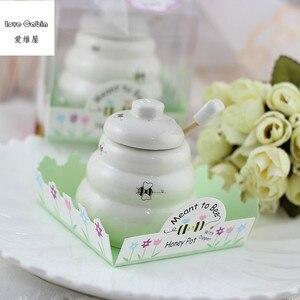 Image 5 - Предназначено для пчелиного керамического медового горшка 10 шт./лот свадебные подарки для невесты