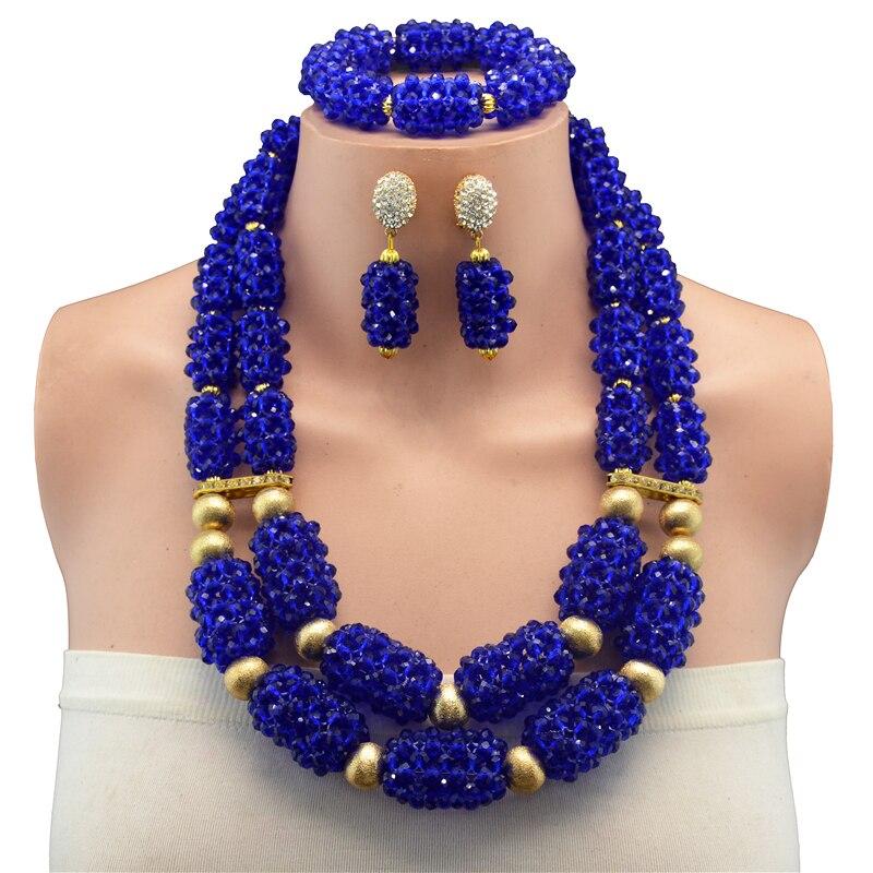Nigéria mode de mariage perles africaines ensemble de bijoux fille conception tresse collier ras du cou boucles d'oreilles dubai ensembles de bijoux pour les femmes