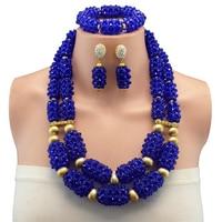 Nigeria wedding fashion african beads jewelry set girl design braid choker necklace earrings dubai jewelry sets for women