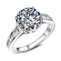 New Arrival Kobiet Lśniąco Białe Kamienne Chic Moda Pierścień dla Kobiet rozmiar 6 7 8 Urocza Biżuteria Dla Kobiet Pierścionki Cyrkonia