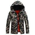2016 Новая Мода Камуфляж Manteau D Hiver Homme Тонкий Качество Ветрозащитный Мужская Зимняя Пуховик