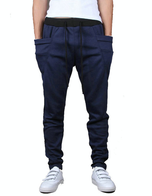 Gran bolsillo de la manera mens harem pantalones deportivos hombres pantalones casuales pantalones