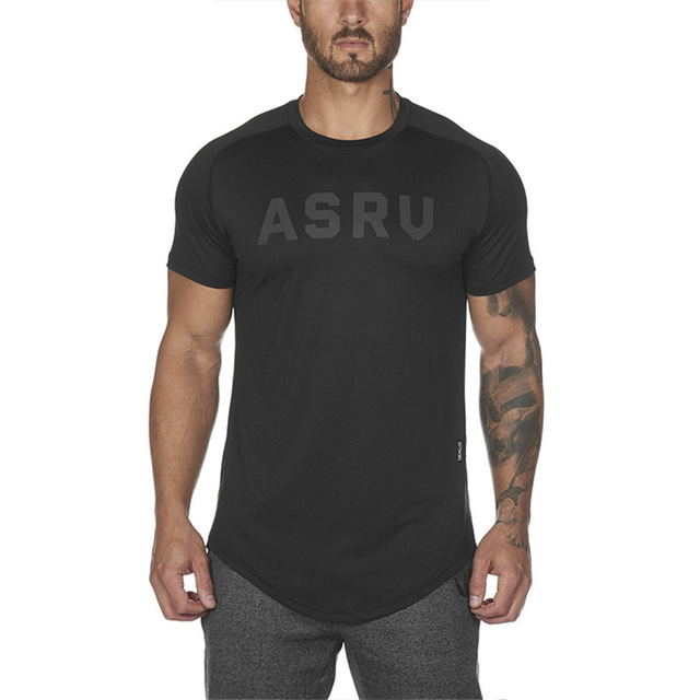 Gyms Clothing New Mens Short Sleeve T-Shirt Bodybuilding Fitness T-shirt Mens Sporting T-Shirt Big Size Tops Tees