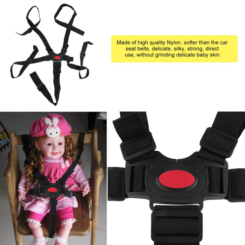 5 Point Adjustable Baby Safe Car Harness Belt Universal Baby Chair Safety Belt High Quality Dining Chair Bandage Seat Belt New