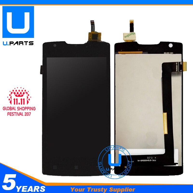 Sensor negro para Lenovo A1000 pantalla LCD con pantalla táctil digitalizador completo Asamblea completa reemplazo