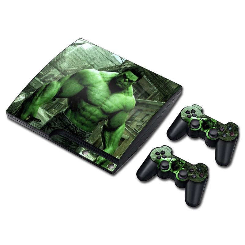 Full Body Game Skin Vinyl Sticker Decal for PS3 SLIM console Hulk Design