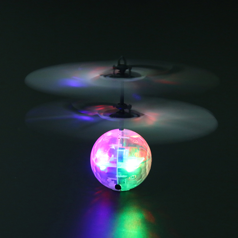 Induction Flying Lighting Ball Cool Led Flashing Light Aircraft Child Outdoor Toy USB Rechargeable Smart Inductive Ball for Kids