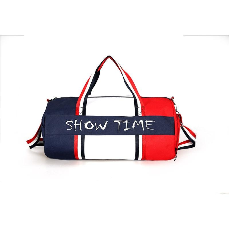 SAFEBET Fashion PU Quality Traveling Bag Couple Striped Duffle Travel Travel Bags Hand Bag Unisex Shoulder Bag