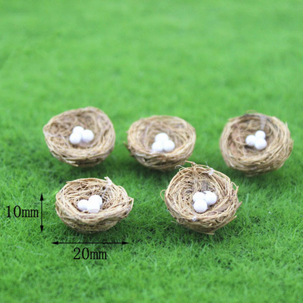 1Pcs 1/12 Dollhouse Miniature Accessories Mini Bamboo Bird Nest Simulation Model Toys For Doll House Decoration
