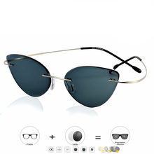 цены Rimless Glasses Frame Women Titanium Ultralight Eyeglasses Prescription Frameless Cat Eye Screwless Eyewear Myopia Optical Frame