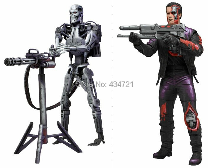 ФОТО New Classic Game Robocop VS Terminator Series 1 T-800 Endoskeleton Sci-fi Movie NECA 7