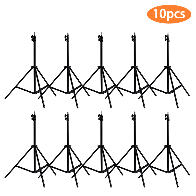 10pcs 1.9M(75inch) fold Light Stand Tripod With 1/4 Screw Head For Photo Studio Softbox Video Flash Umbrellas Reflector Lighting