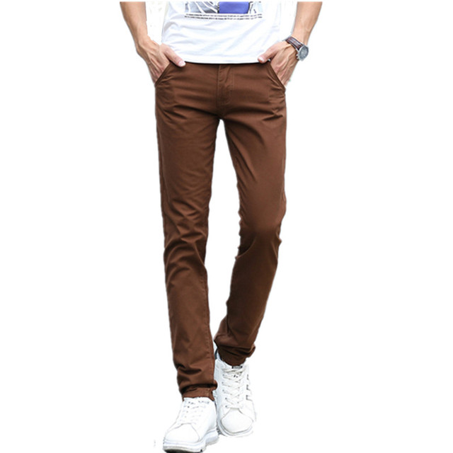 Business Casual Pants 11 Colors New Casual Pencil Pants Men Slim Pant Straight Trousers Solid Leisure Zipper Spring Summer k919 6